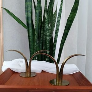 Just in! 'Lily' Brass Candleholders for Ibe-Ronst
